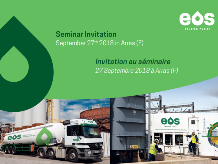 "EOS Seminar ""New (Re)Generation Options for Transformer Oils"" am 27. September 2018 in Arras, Frankreich"